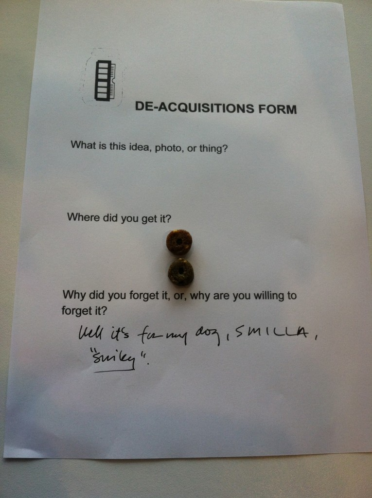 "De-Acquisitions Form, ""dog treats"""